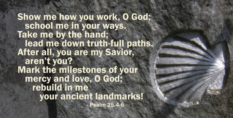 Scripture - Psalm 25 - Camino Summer copy