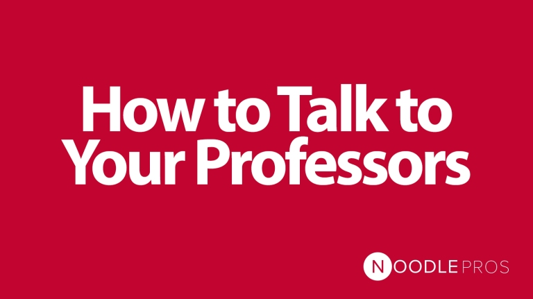 Blog - How to Talk to Your Professors